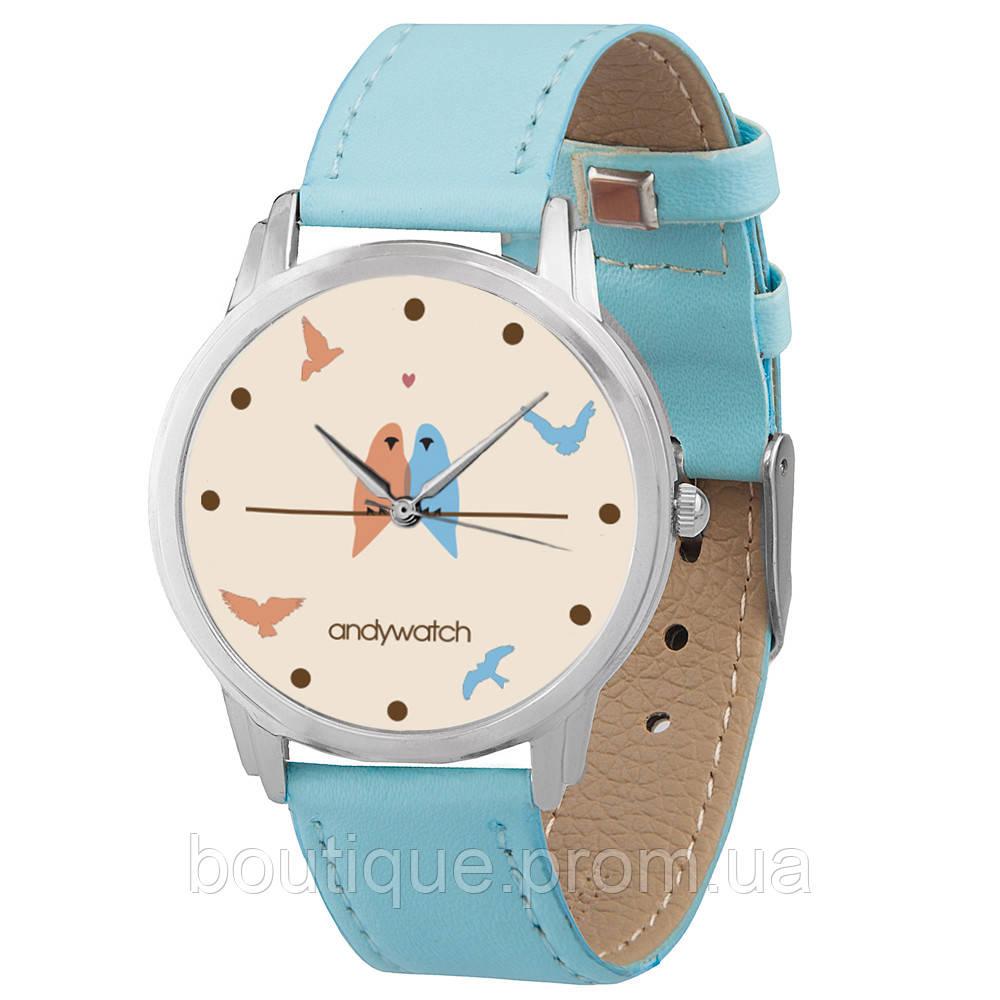 6ea91132 Женские Часы Andywatch Влюблённые Птички AW 007 Голубые — в Категории
