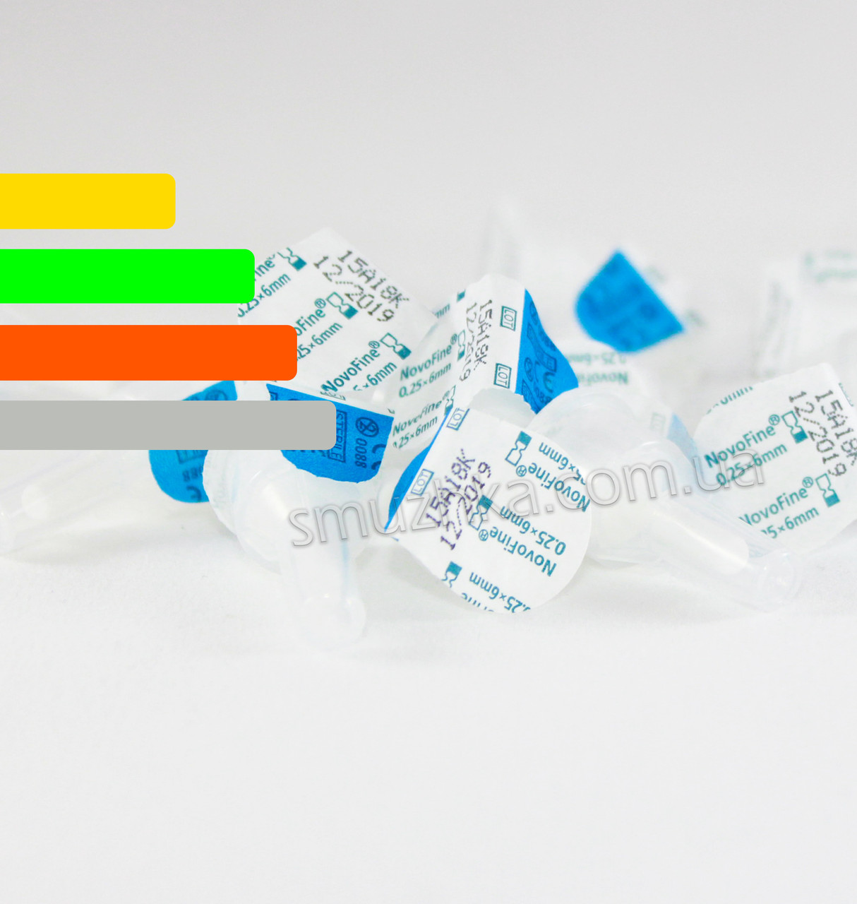 Иглы для инсулиновых шприц-ручек Новофайн 6 мм - Novofine 31G, Поштучно