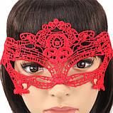 Маска для карнавала женская красная, фото 2