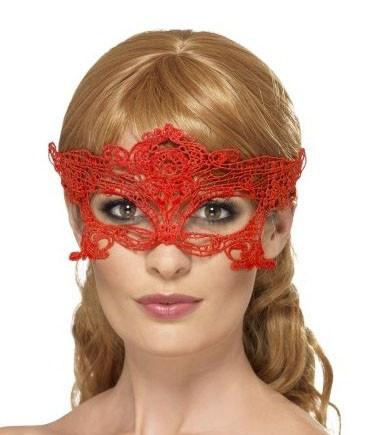 Маска для карнавала женская красная
