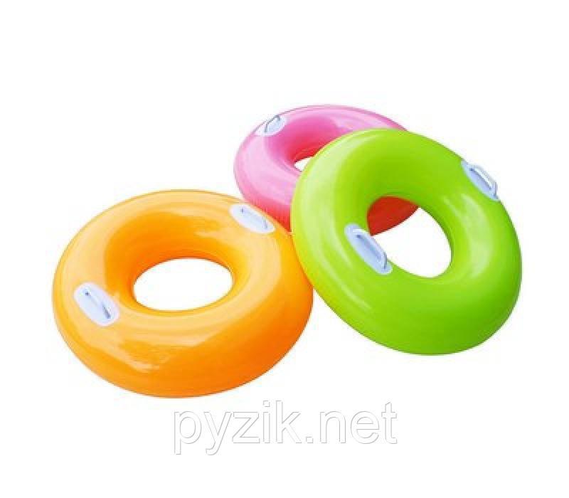 Детский надувной круг Intex однотонный 76 см
