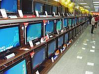 Новые стеллажи под телевизоры для магазина бытовой техники и электроники. Торговое оборудование WIKO