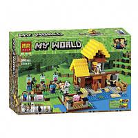 """Конструктор Bela 10813 """"Фермерский коттедж"""" (аналог Lego Майнкрафт, Minecraft 21144), 560 дет"""