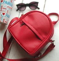 Міні рюкзак трансформер - червоний
