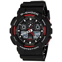 Спортивные часы Casio G-Shock GA-100 Black-Red