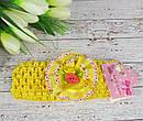 Детские повязочки на голову с цветами 12 шт/уп, фото 4