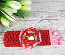 Детские повязочки на голову с цветами 12 шт/уп, фото 5