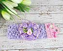 Детские повязочки на голову с цветами 12 шт/уп, фото 7