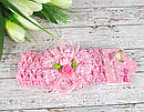 Детские повязочки на голову с цветами 12 шт/уп, фото 8