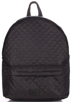 Женский стеганый рюкзак Poolparty Theone-black 17 л