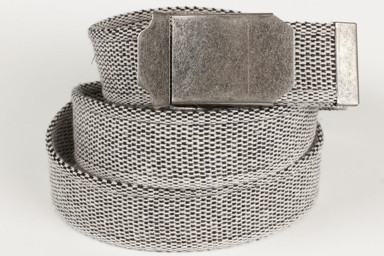 Ремень мужской унисекс джинсовый тканевый однотонный 40 мм