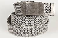 Ремень мужской унисекс джинсовый тканевый однотонный 40 мм, фото 1