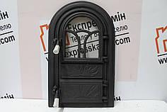 Дверцы печные со стеклом «Фагуре» 340х540. Дверцы для печи кухни барбекю