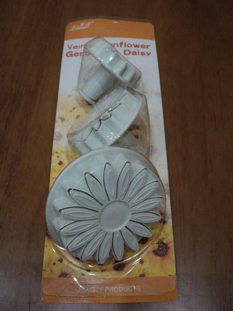 Плунжер кондитерский для мастики из 3-х Подсолнух