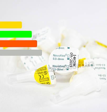 Иглы инсулиновые для шприц-ручек Новофайн 8 мм - Novofine 30G, Поштучно, фото 2