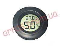 Термометр-гигрометр 27000 цифровой круглый черный