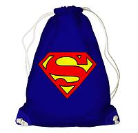 Рюкзак - мішок з принтом Супермен, фото 1