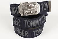 Ремень мужской унисекс джинсовый тканевый брэнд 40 мм темно-синий, фото 1
