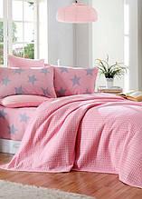 Постельное белье Eponj Home Paint Pike BigStar pembe розовое евро размер