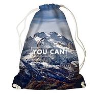 Рюкзак - мішок з принтом YOU CAN
