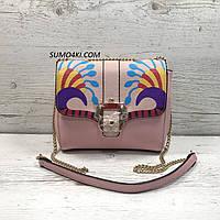Женская стильная розовая сумка, фото 1