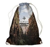 Рюкзак - мішок з принтом Follow Your Dream, фото 1