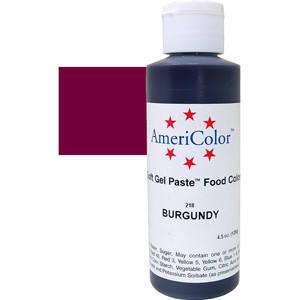 Краситель гелевый AmeriColor (Америколор) Бордовый 128г, фото 2