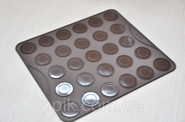 Коврик для выпечки Macarons (Макаронс) GIANT (цвет коврика в ассортименте), фото 2