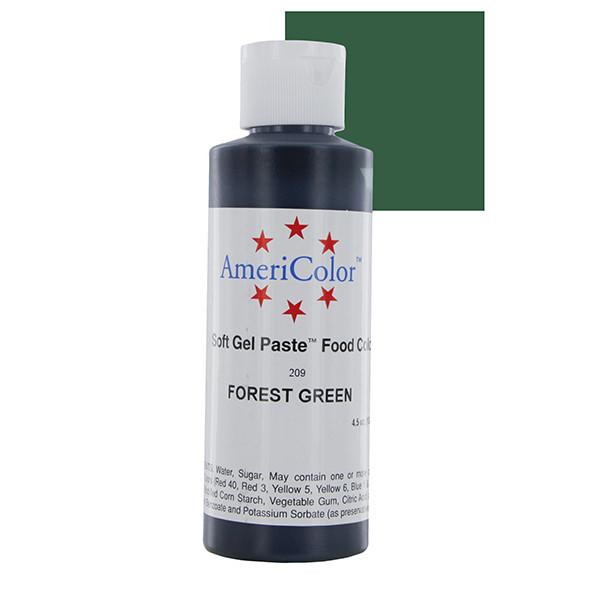 Краситель гелевый AmeriColor (Америколор) Зеленый Лес  128г