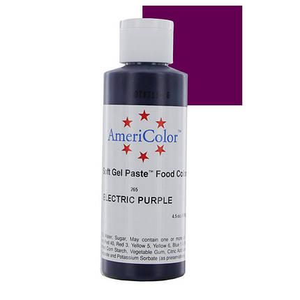 Краситель гелевый AmeriColor (Америколор) Электрический Пурпур 128г, фото 2