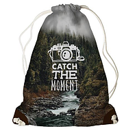 Рюкзак - мішок з принтом Catch the moment, фото 1