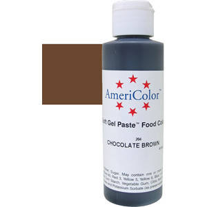 Краситель гелевый AmeriColor (Америколор) Шоколадно-Коричневый  128г, фото 2