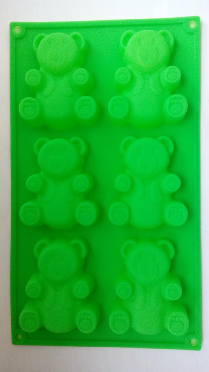 Форма силиконовая Мишка Барни (6шт)
