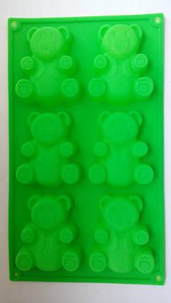 Форма силиконовая Мишка Барни (6шт), фото 2