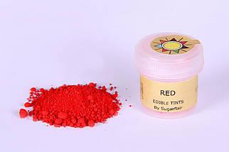 Краска сухая для цветов Sugarflair красная