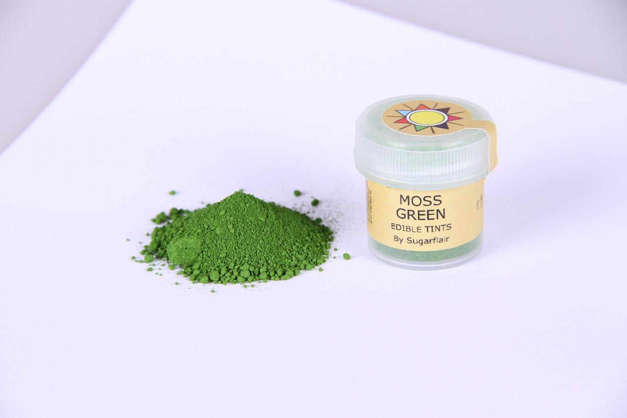 Краска сухая для цветов Sugarflair зеленый мох