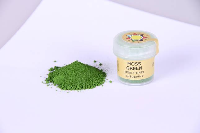 Краска сухая для цветов Sugarflair зеленый мох, фото 2