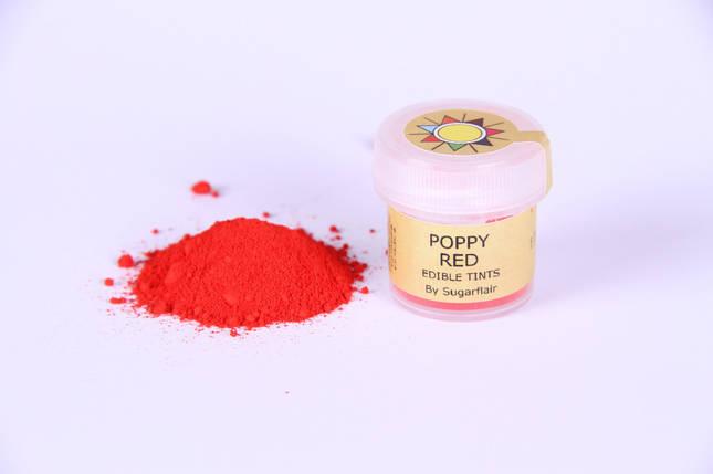 Краска сухая для цветов Sugarflair Красный мак, фото 2