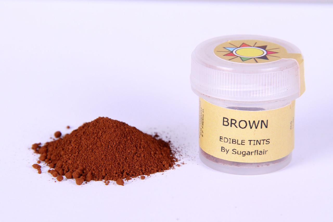Краска сухая для цветов Sugarflair коричневый