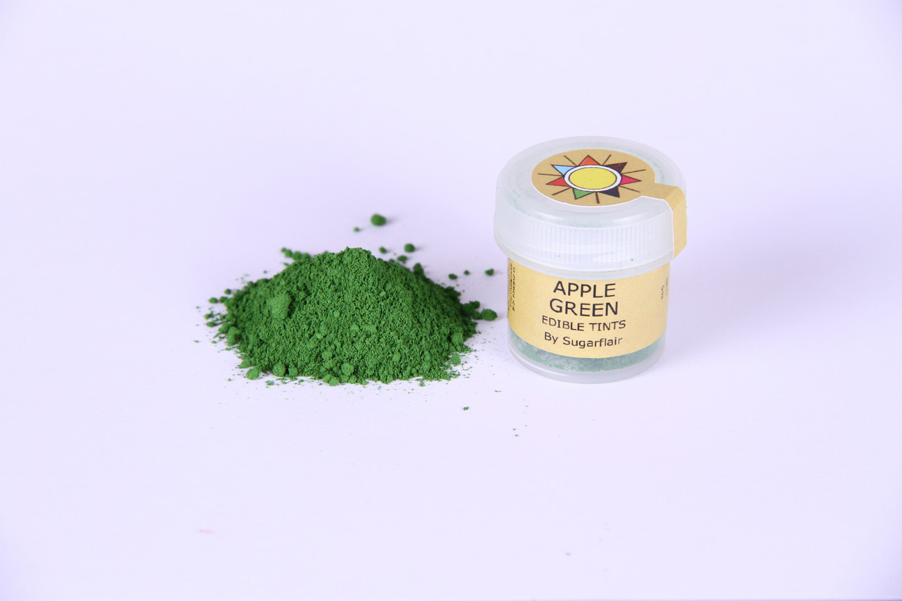 Краска сухая для цветов Sugarflair зеленое яблоко