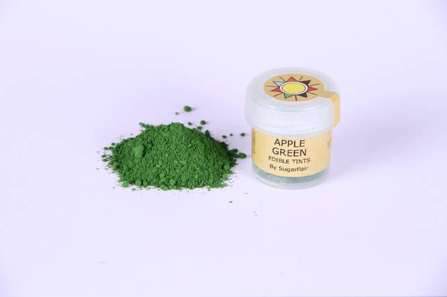 Краска сухая для цветов Sugarflair зеленое яблоко, фото 2