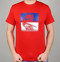 Мужская Футболка Nike Water 4842 Красная
