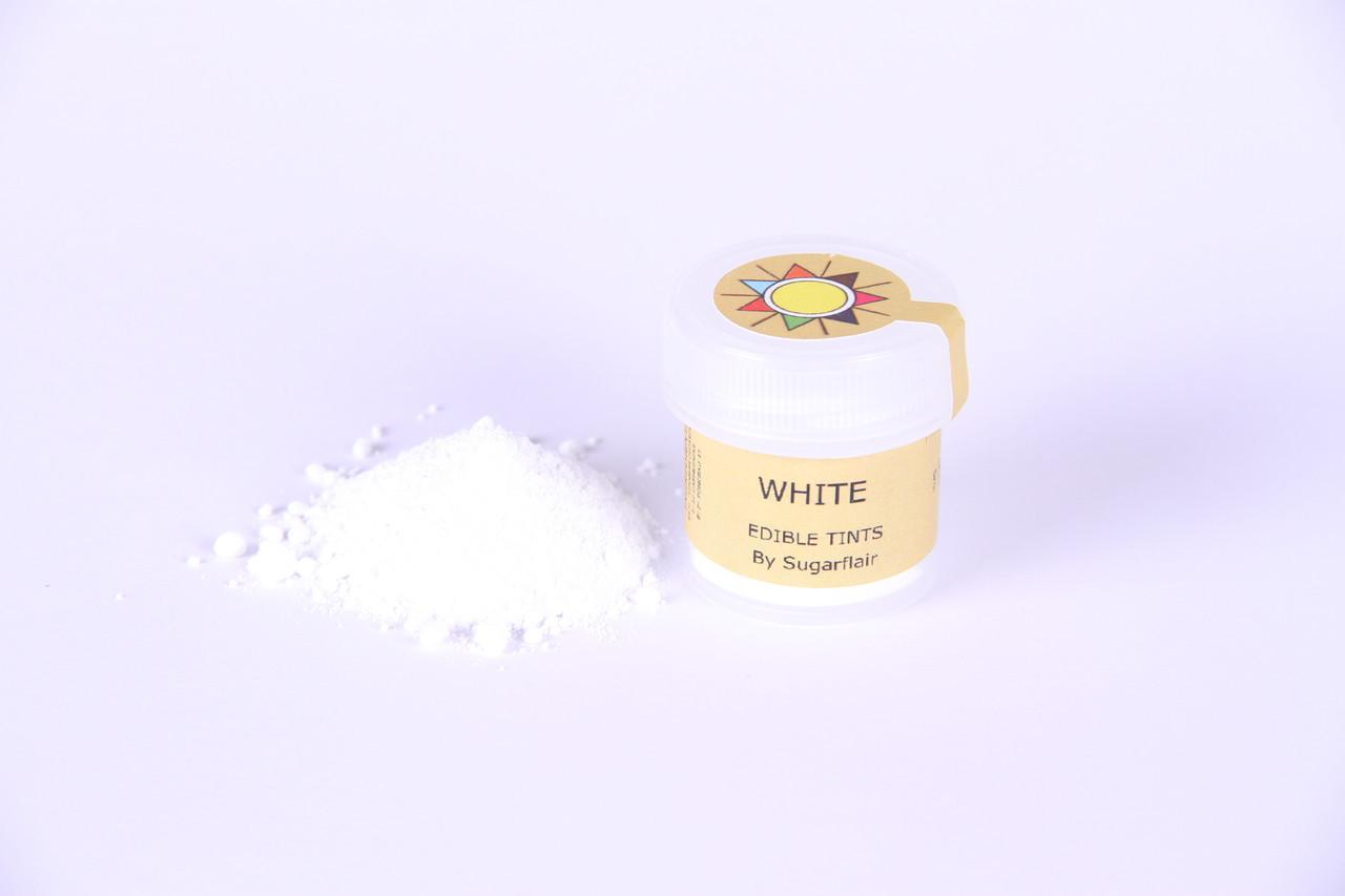 Краска сухая для цветов Sugarflair белый