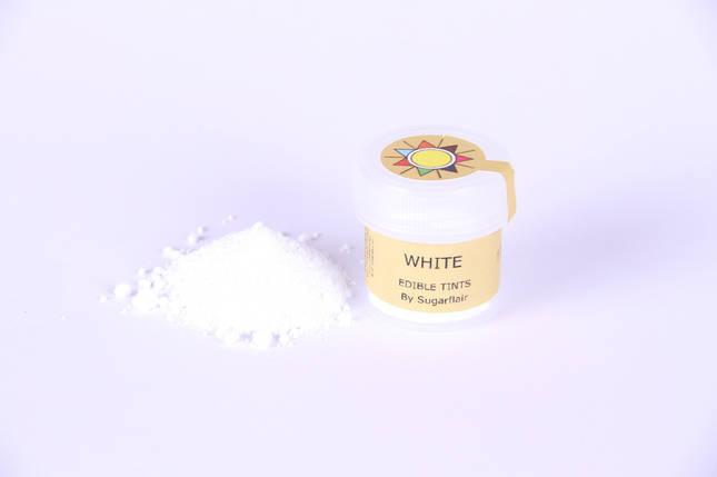 Краска сухая для цветов Sugarflair белый, фото 2