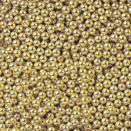 Посыпка шарики золото 2 мм, 50 грамм, фото 2