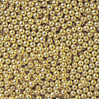 Посыпка шарики золото 2 мм, 50 грамм