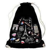 Рюкзак - мішок з принтом Прикольні мандрівки, фото 1