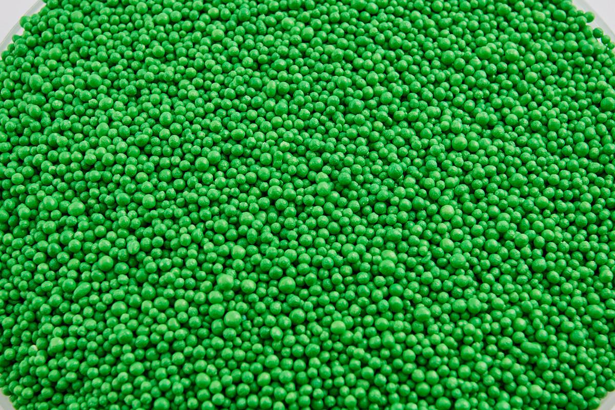 Посыпка зеленые шарики 2 мм 50 грамм