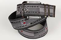 Ремень мужской унисекс джинсовый тканевый брэнд 45 мм серый, фото 1