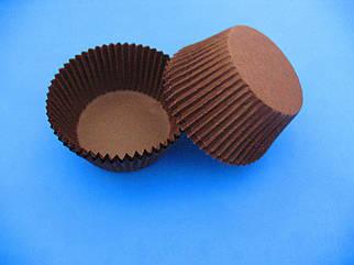Тарталетки (капсулы) бумажные для кексов, капкейков коричневые 50*30
